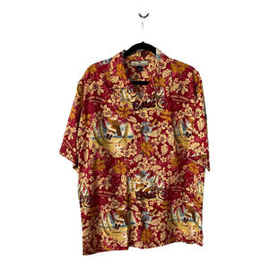 Tommy Bahama Medium Silk Hawaiian Shirt Santa 2006